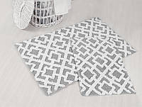 Набор ковриков для ванной хлопок 60х100+45х60 FINLEY серый