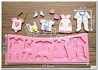 Детская одежка молд силиконовый для мастики