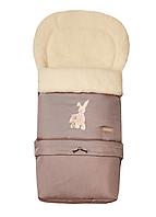 Многофункциональный детский конверт Multi Arctic на овечьей шерсти № 20 excluzive темно-бежевый. WOMAR