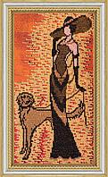 """Набор для вышивания бисером на художественном холсте """"Дама с собачкой"""""""