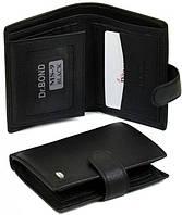 Отличный мужской кошелек из натуральной кожи dr.Bond MS-9 black (черный)