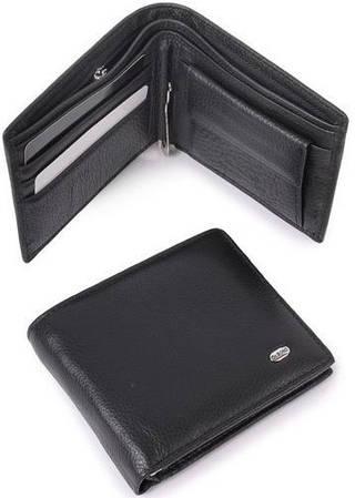 Портмоне мужское кошелек из качественной натуральной кожи  dr.Bond M 13 black (черный)