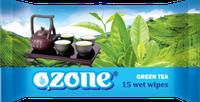Детские влажные салфетки 15 шт Озон Ozone с ароматом зеленого чая