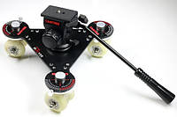 Тележка Proaim Skater Wheel Dolly Camera Video Slider для видеосъемки