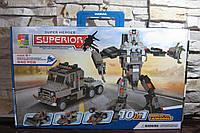 Конструктор Superior 10 в 1Трансформер-трейлер 6+