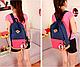 Городской рюкзак с цветным карманом 17 л., синий / красный, URBANSTYLE, 004 , фото 3