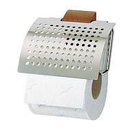 Держатель для туалетной бумаги с крышкой  Inox