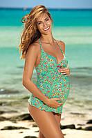 Купальник для беременных танкини с цветочным принтом F41 334