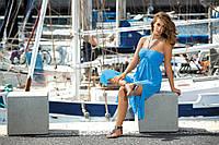 Пляжное платье голубое SUKIENKA F43 226