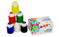 Набор акриловых красок для декора ROSA START, глянцевый, 6 кол.*20