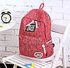 Стильный городской рюкзак JQ 16 л. фуксия / разноцветный URBANSTYLE, 041