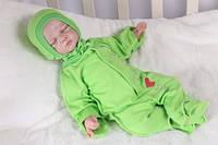 Человечек из интерлока с шапочкой зеленый
