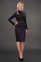 Строгое деловое платье приталенного покроя