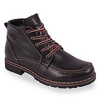 Модные мужские ботинки Berg (зимние, с шнурками, удобная подошва, теплые, удобные,на замке)