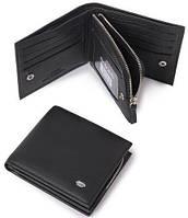 Незаменимый мужской кошелек из натуральной кожи dr.Bond M 54 black (черный)