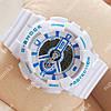 Элегантные спортивные наручные часы Casio GA-110 White/Blue 633
