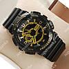 Элегантные спортивные наручные часы Casio GA-110 Black/Gold 637