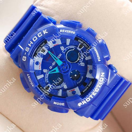 Яркие спортивные наручные часы Casio GA-120 Blue/Gray 639