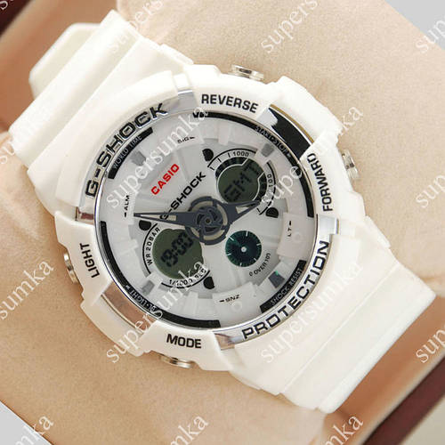 Элегантные наручные спортивные часы Casio GA-200 White 644
