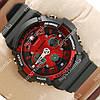 Стильные наручные спортивные часы Casio GA-200 Black/Red 649
