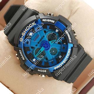 Модные наручные спортивные часы Casio GA-200 Black/Blue 650