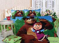 Детские покрывала хлопковый 160х210 Shining Star, Маша и Медведь