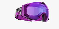 Горнолыжная маска Bliz Carver SR 9 Purple / Orange Silver Mirror