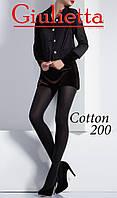 Женские теплые колготки с хлопком COTTON 200