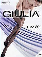Колготки женские c ажурными трусиками и с узором имитирующим высокие гольфы в мелкую LIMA 20(1)