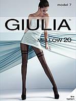 Женские колготки с узором имитирующим высокие ботфорты в мелкую точку MELLOW 20 (7)