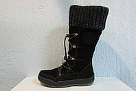Сапоги зимние Magiland 2162-130 черные натуральная замша и мех код 822А
