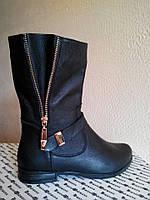 Ботинки зимние Б-150  черные из натуральной кожи