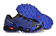 Кроссовки мужские беговые Salomon Speedcross 3 (саломон, оригинал) серые