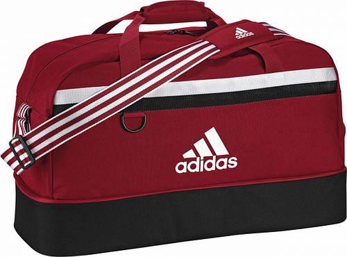Вместительная спортивно-дорожная большая сумка 75 л. Adidas TIRO TB BC L S13308 красный с черным