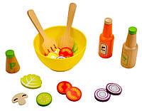 4100112 Набор для приготовления салата деревянный (24эл.)