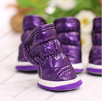 Дутики меховые фиолет на меху