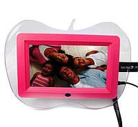 Цифровая фоторамка в форме логотипа Apple, с полнофункциональным пультом дистанционного управления, фото 1