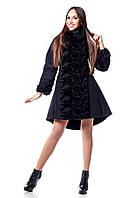 Модное зимнее женское пальто Флоренция с оригинальным декором р. 42-52