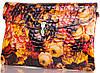 Яркий женский кожаный клатч   с принтом ETERNO, ET336951-6