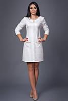 Молодежное платье  из модного теплого стеганого трикотажа