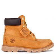 Ботинки женские Timberland 6 inch Yellow Boots (тимберленд, оригинал) коричневые