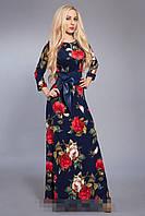 Платье женское мод 376-2 ,размер 44, 46,48,50,52,54 роза (А.Н.Г.)