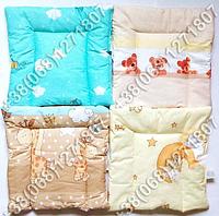 Детская подушка для новорожденных 40х40 в кроватку (много расцветок)