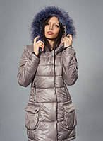 Женские зимние куртки-парки с мехом