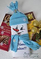 Новородний подарок из шоколада Снеговик
