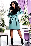 Модное женское зимнее пальто с отстежным шалевым воротником МИЛЕДИ р. 46-54