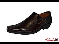 Туфли казаки мужские Broni кожа коричневые B0010