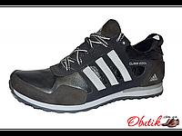 Кроссовки мужские Adidas синие кожа вставки замшевые AD0004