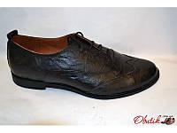 Туфли-оксфорды женские Украина кожаные черные Uk0022