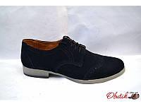 Туфли-оксфорды женские Oog замша черные Oog0012